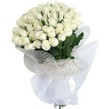White Roses Bouquet Large