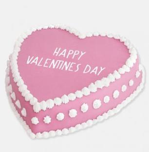 Happy Valentines Day Pink Cake