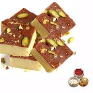 Chocolate Burfi with Rolli Tikka