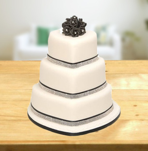 3 Tier Heart Shape Cake