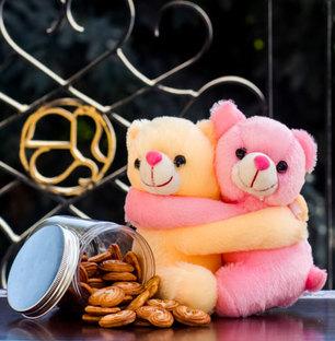 Cookies in a Jar with Hugs