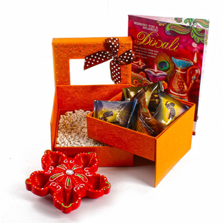 Double Decker Box of Mukhwas Dates Chocolate