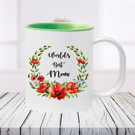 Green Best Mom Photo Mug