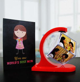 Photo Cube with Card