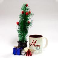 Christmas Mug with decorated Christmas Tree