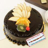 Chocolate Fruit Cake with Rakhi