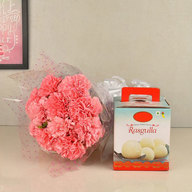 Pink Carnation with Rasgulla