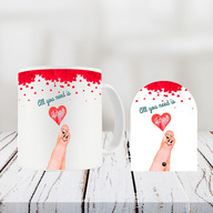 Valentine Mug and Door shape Table Top Combo