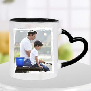 Black Heart Handle Mug for Dad