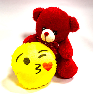 Red Teddy & Smiley Combo