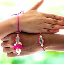 Jewels and Stone Rakhi Loomba Set