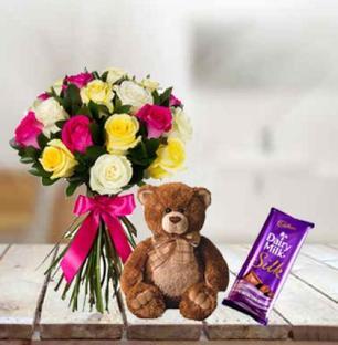 Roses, Teddy & Dairy Milk Silk