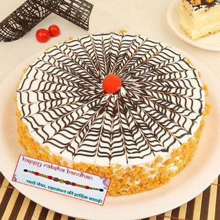 Crunchy Butterscotch Cake With Rakhi
