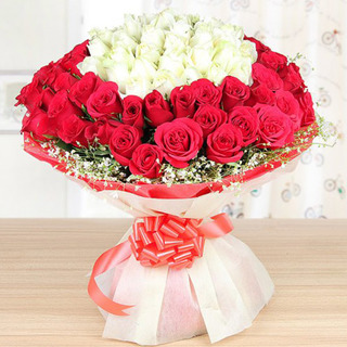 Fifty Fifty Love Rose Bouquet