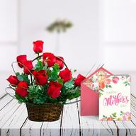 Mothers Day Basket and Card