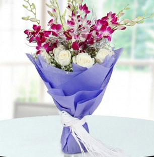 Lovely Orchids and Roses