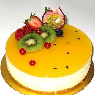 Fruit Glazed Fresh Fruit Cake