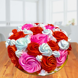 Colorful Roses Ombre Cake