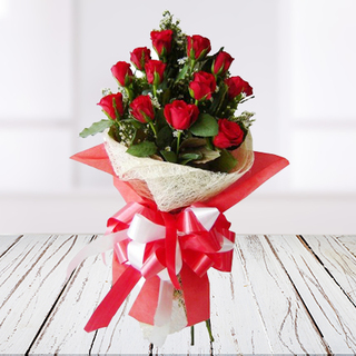 Exotic Red Roses Bouquet