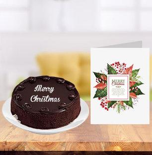 Christmas Cake and Greeting Card