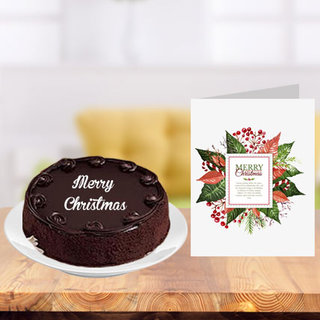 Christmas Cake and Greeting Card