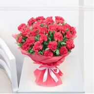 Valentine Red Carnation Bouquet