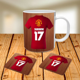 Manchester United Mug and Coasters combo