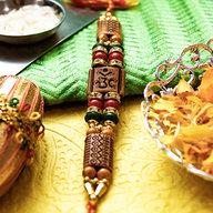 Om Wooden Bracelet Rakhi