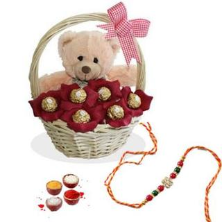 Teddy, Chocolate with rakhi