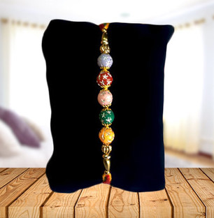 String of Colorful Beads Rakhi