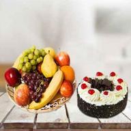 Fresh Fruits with Cake