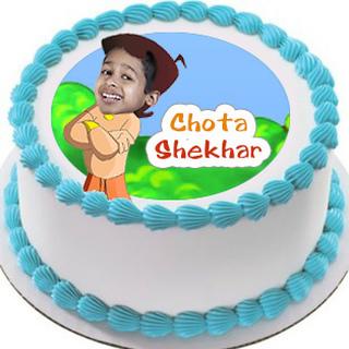 Personalised Chota Bheem Photo Cake 1 Kg