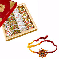 Khoa Sweets with 2 Rakhis