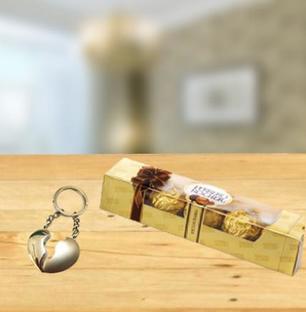 Keychain and Chocolate Combo