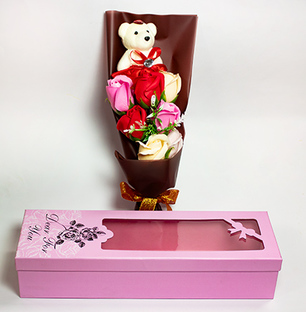 Roses and Teddy Bouquet