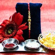 Golden Stone Rakhi