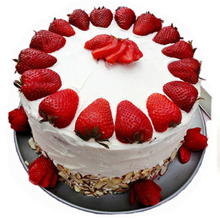 Valentine 5 Star Hotel Strawberry Cake