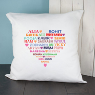 Personalised Name Heart Cushion