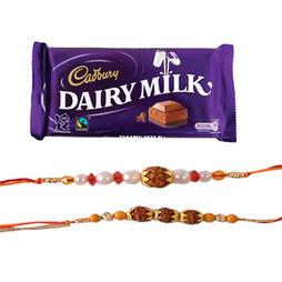 Dairy Milk with 2 Rakhi