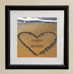 Heart in Sand Art Framework