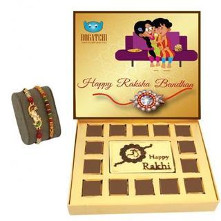 Rakhi chocolate box with 2 Mix Rakhi