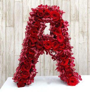 Alphabet Flower Love