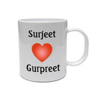 A Loves B Personalised Mug