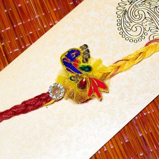 Colourful Peacock Rakhi