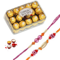 16 pc Ferrero Rocher with 2  Rakhis