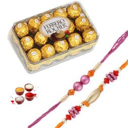 16 pc Ferrero Rocher with 2  Rakhis