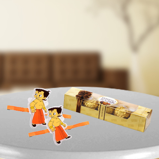 Chota Bheem Rakhi with Ferrero Rocher