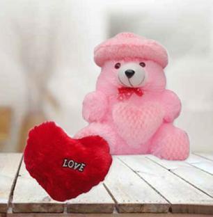 Heart Cushion and Teddy