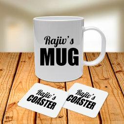 Personalised Name Mug and Coasters Combo