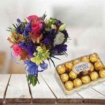 Mixed Flowers with Chocolate